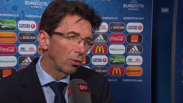 Video «UEFA-Turnierchef Martin Kallen im Interview, Teil 5» abspielen