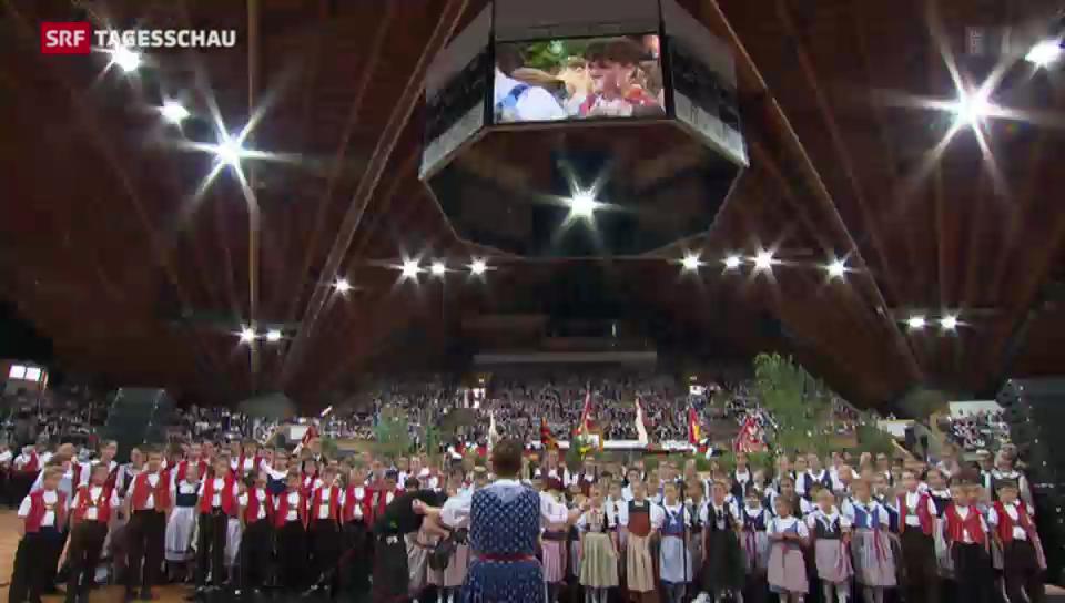 Jodlerfest zum ersten Mal in Davos