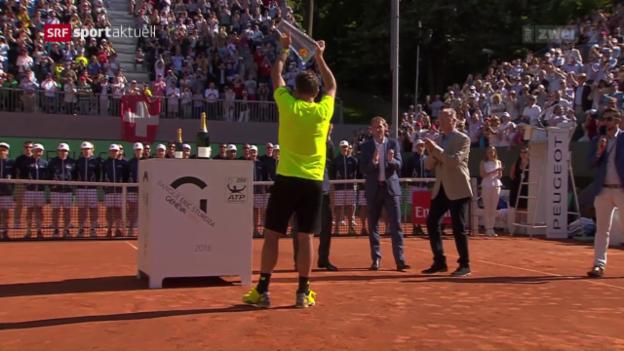 Video «Wawrinka holt in Genf seinen 1. Titel auf Schweizer Boden» abspielen