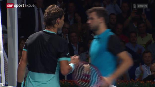 Video «Tennis: Swiss Indoors, Nadal - Dimitrov» abspielen