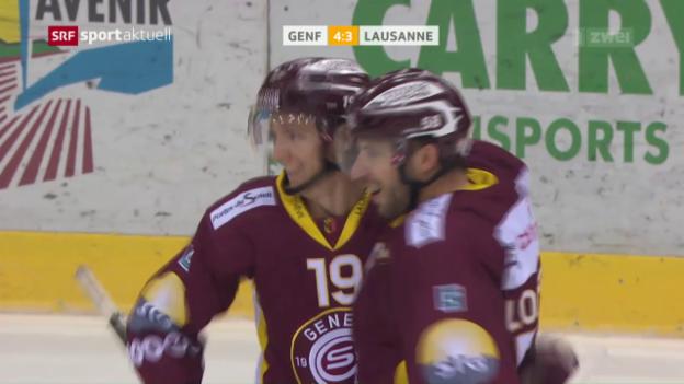 Video «Genf gewinnt Léman-Derby gegen Lausanne» abspielen