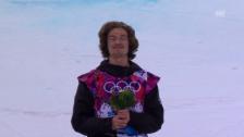 Video «Snowboard Halfpipe: Flower Ceremony (sotschi direkt, 11.02.2014)» abspielen