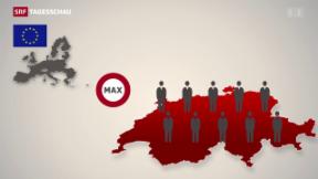 Video «Schweiz droht EU mit einseitiger Schutzklausel» abspielen