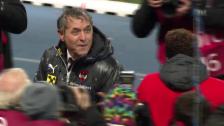Video «Fussball: EM-Qualifikation, Österreich feiert Marcel Koller» abspielen