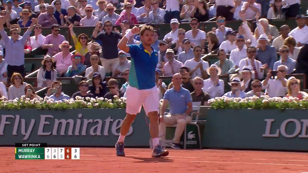 Wawrinka ringt Murray nieder und steht im Paris-Final