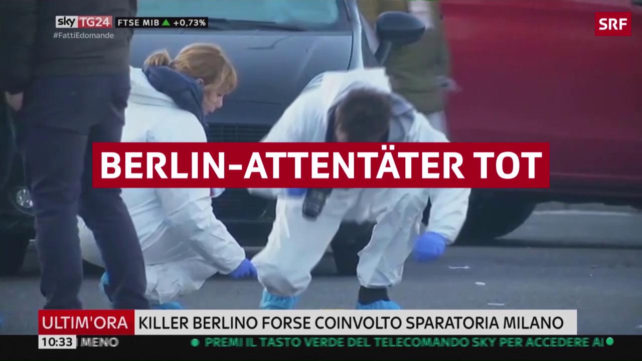 Berlin-Attentäter erschossen
