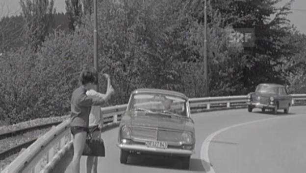 Video «Autostopp 1965: Achtung Kurve!» abspielen