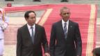 Video «Obama normalisiert Beziehungen zu Vietnam» abspielen