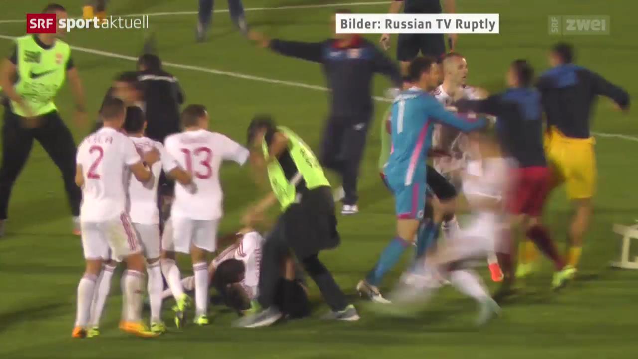 Fussball: Ausschreitungen bei Serbien - Albanien