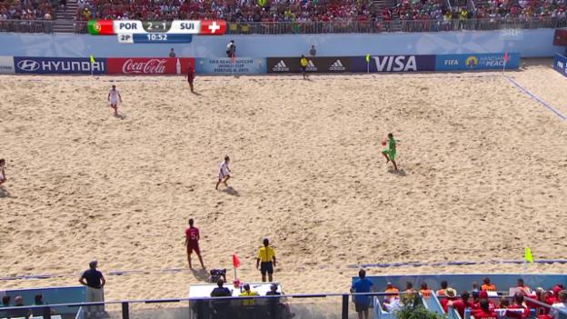 Video «Beachsoccer: Portugal - Schweiz, 3:1 Portugal» abspielen