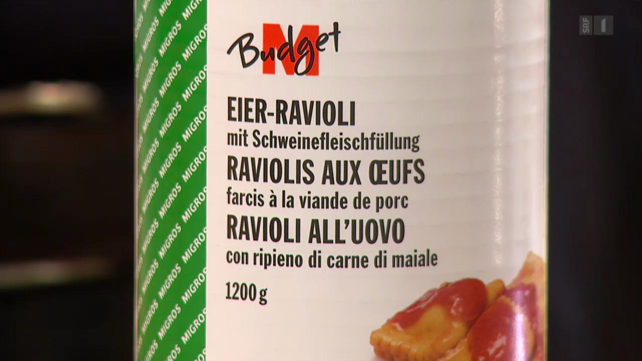 Achtung Etikettenschwindel: Ravioli fast ohne Fleisch
