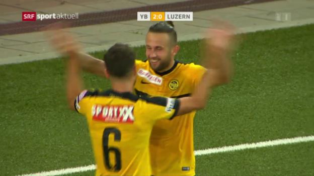 Video «YB gewinnt Verfolgerduell gegen Luzern» abspielen
