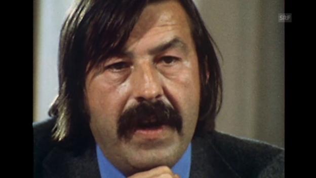 Video «Über die Rolle der Schriftsteller im Umgang mit Macht (1975)» abspielen