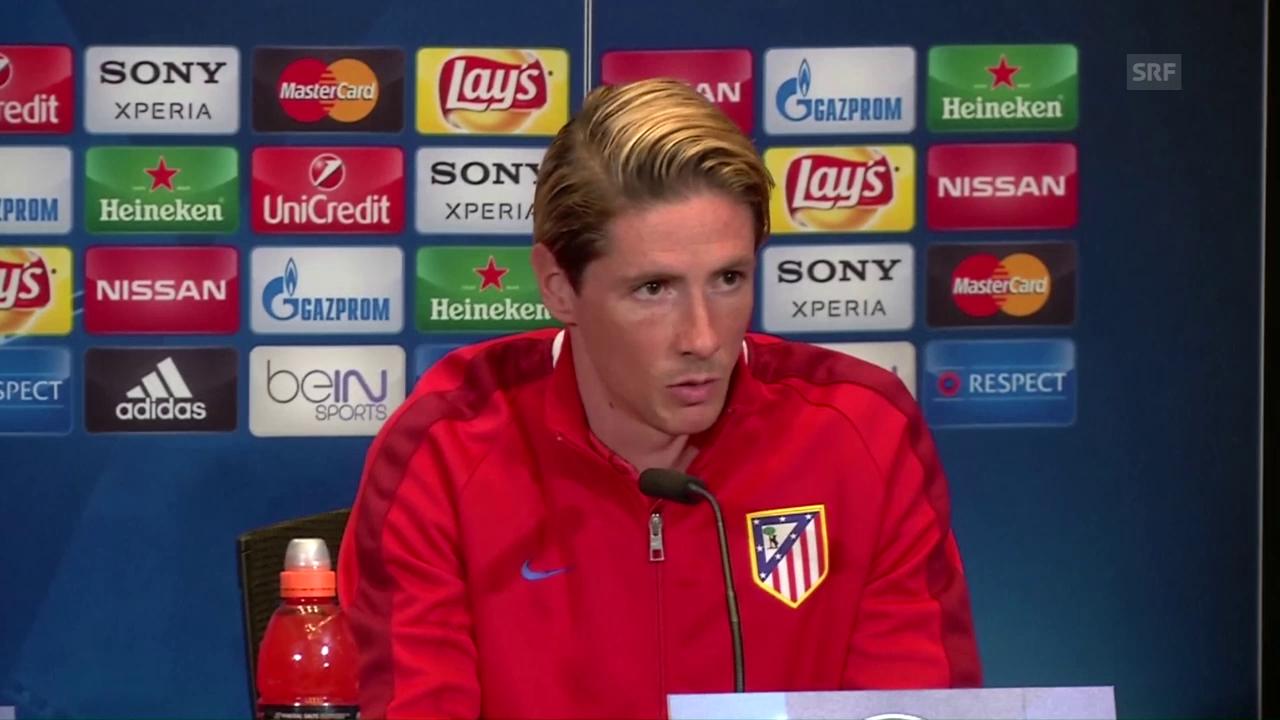 Simeone, Torres und Gabi zum Bayern-Spiel (Quelle: SNTV)