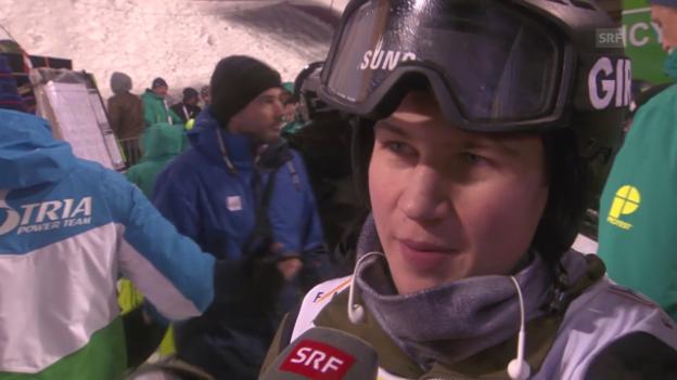 Video «Snowboard: Freestyle-WM in Kreischberg, Final Halfpipe, Interview mit David Hablützel» abspielen
