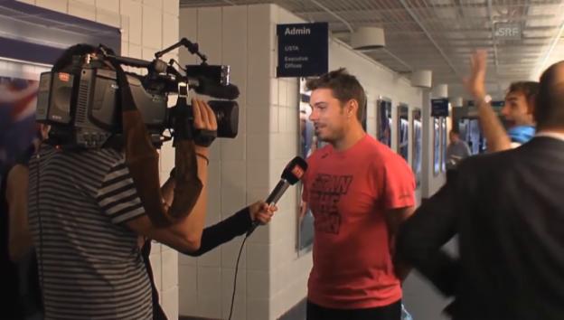 Video «Stan Wawrinka und Roger Federer: Zu Spässen aufgelegt» abspielen