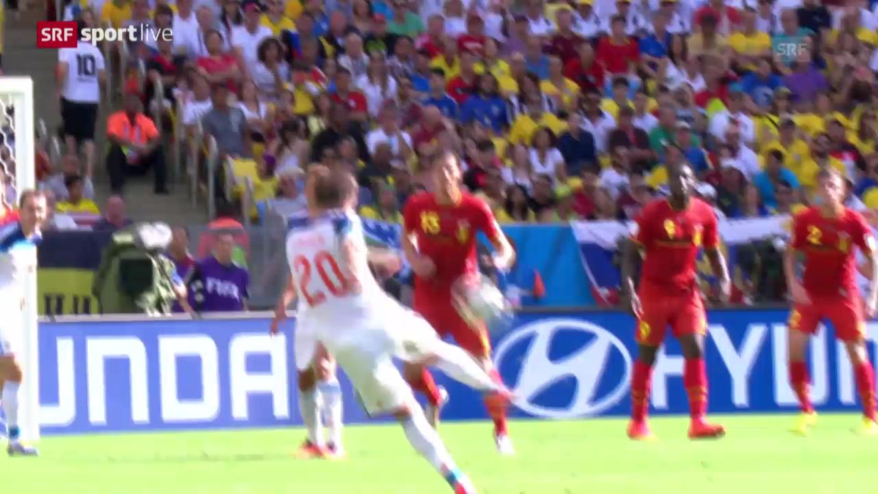 Spielbericht Belgien - Russland