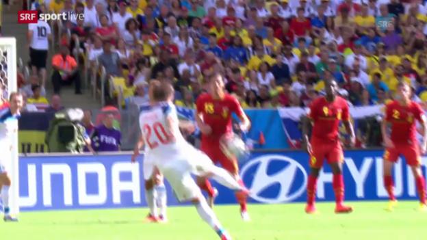 Video «Spielbericht Belgien - Russland» abspielen