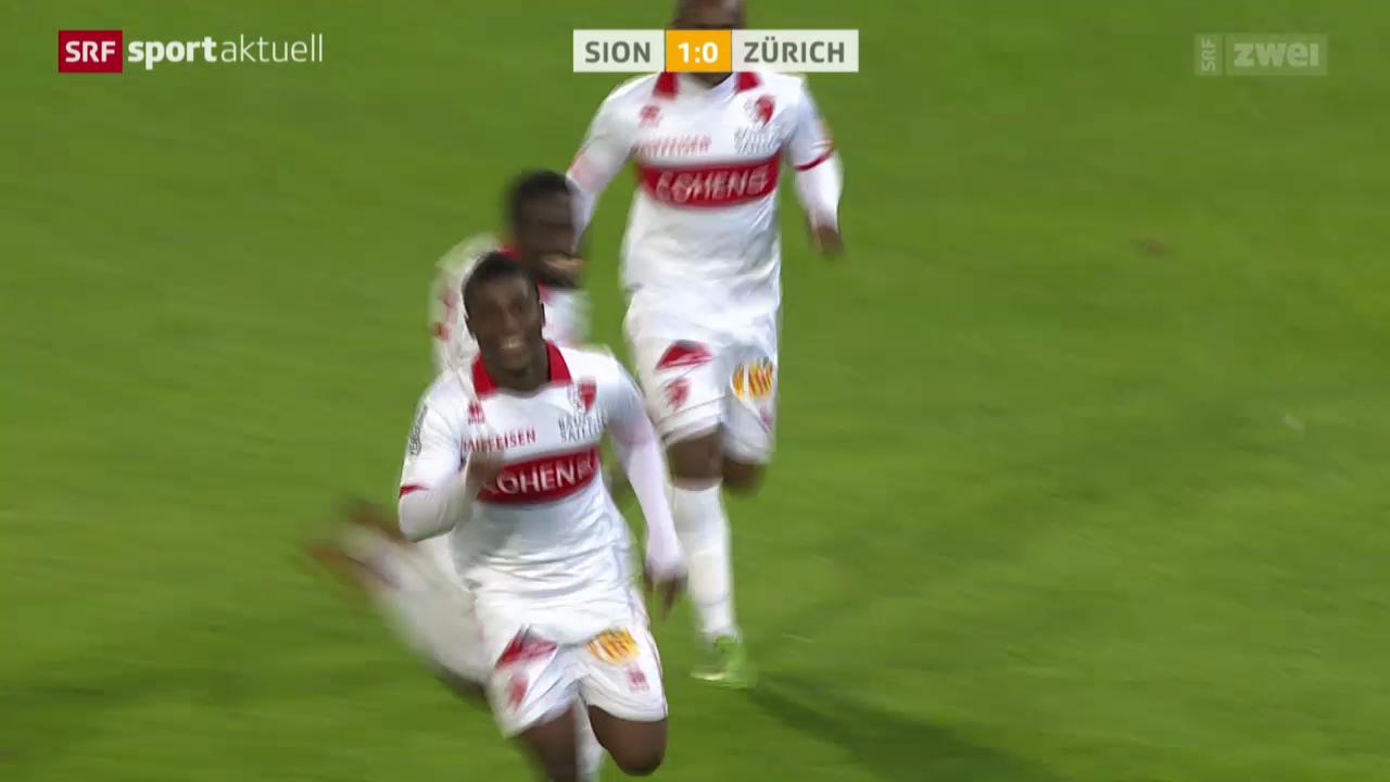 Fussball: Super League, Sion - FC Zürich