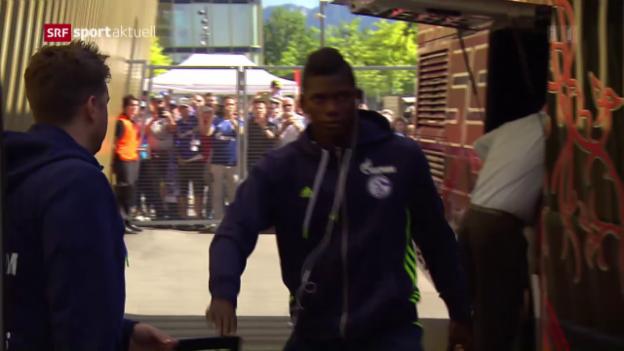 Video «Breel Embolo mit Schalke in Luzern zu Gast» abspielen