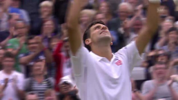 Video «Wimbledon: 2. Runde, Zusammenfassung Djokovic - Stepanek» abspielen