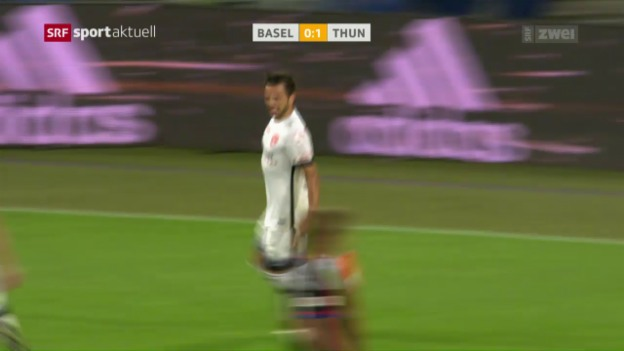 Video «Basel dank spätem Tor mit Remis gegen Thun» abspielen