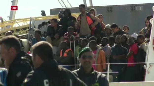 Video «Flucht nach Italien zieht wieder an» abspielen