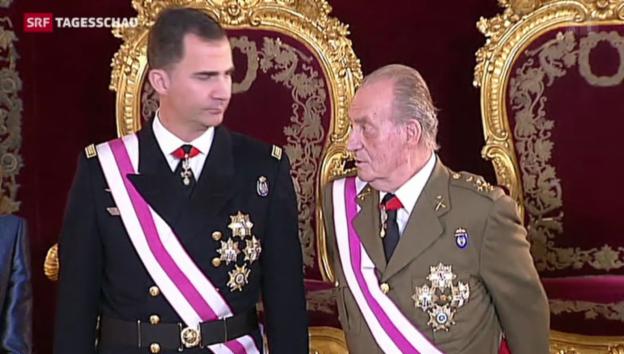 Video «Juan Carlos tritt ab» abspielen