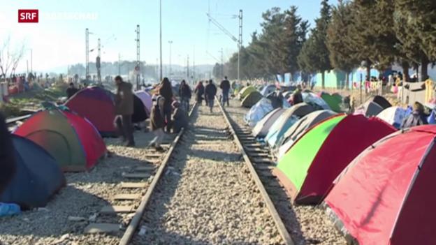 Video «Notstand auf der Balkanroute» abspielen