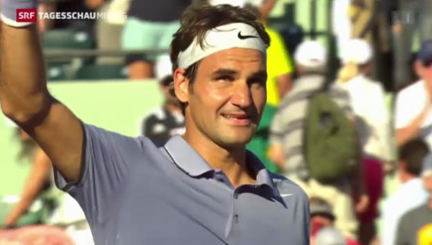 Video «Federer siegt in Eilzugtempo» abspielen