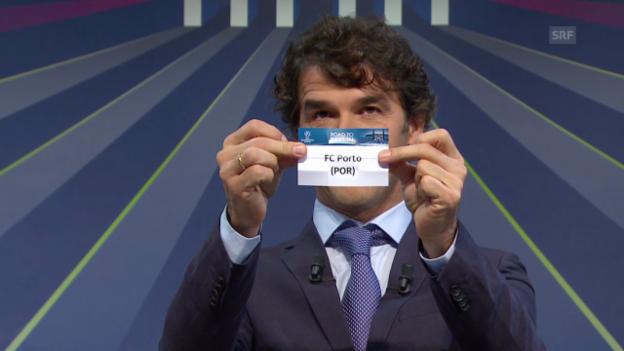 Video «Fussball: Champions League, Auslosung Achtelfinal in Nyon, Basel trifft auf Porto» abspielen