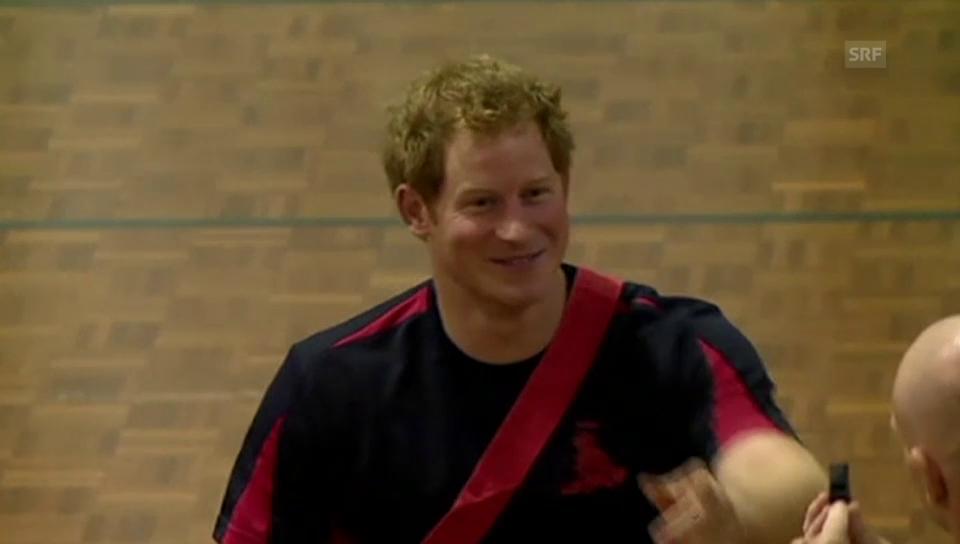 Harrys sportliche Betätigung im Rollstuhl