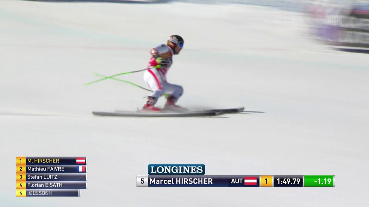 Die Siegesfahrt von Marcel Hirscher
