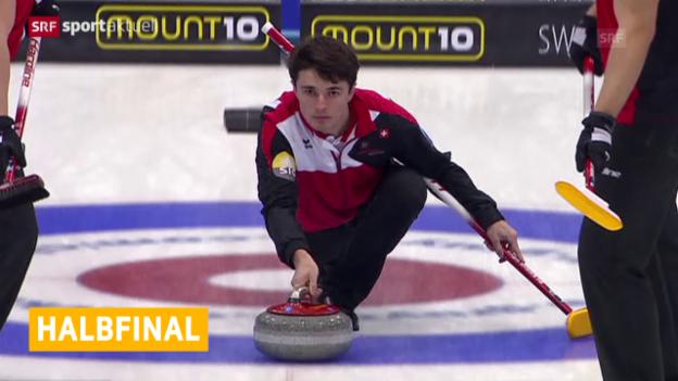 Video «Curling: EM, Zusammenfassung Schweiz - Niederlande» abspielen