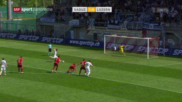 Video «Luzern mit knappem Sieg in Vaduz» abspielen