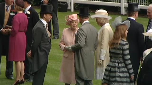 Die britischen Royals in Ascot (unkom. Video)