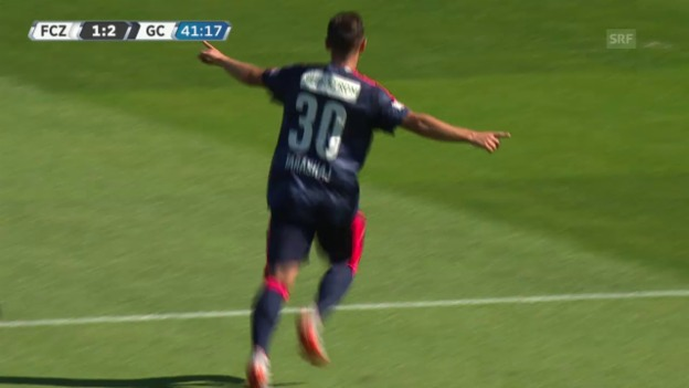 Video «Fussball: Super League 2015/16, FCZ - GC, Shani Tarashaj» abspielen