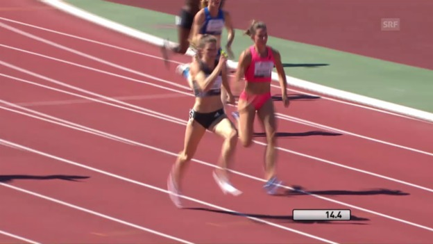 Video «Lea Sprungers Rekordlauf über 200 m» abspielen