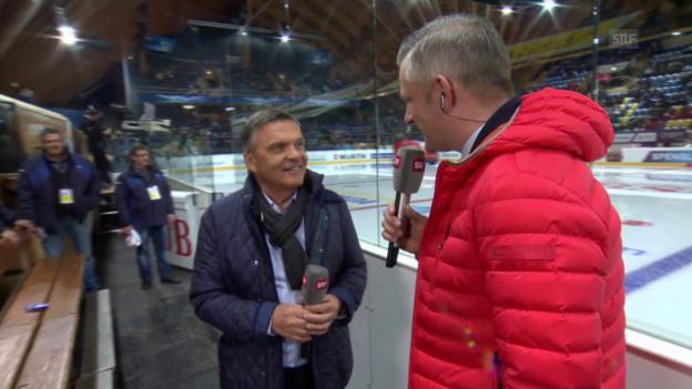 Video «Eishockey: Spengler Cup, René Fasel über seine Zeit als Schiedsricher» abspielen