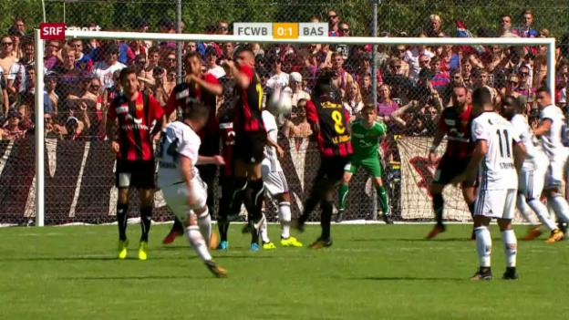Video «Basel mit magerem Sieg gegen Wettswil-Bonstetten» abspielen