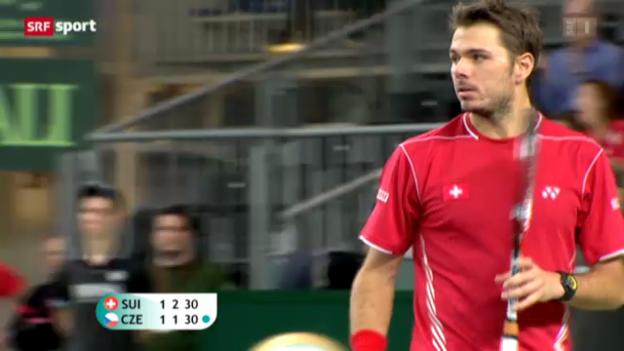Video «Tennis: Davis Cup Doppel Schweiz - Tschechien» abspielen