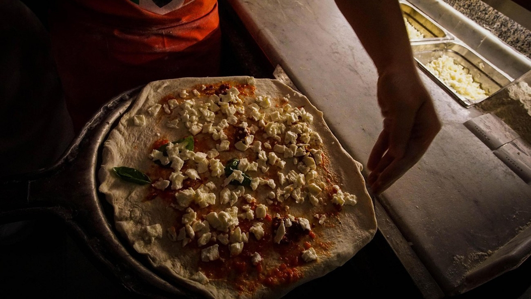 Keime in den Pizzazutaten