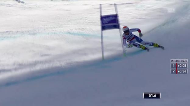 Video «Ski alpin: Weltcup Frauen, Super-G Garmisch, Fahrt Nufer» abspielen
