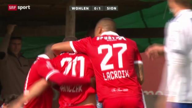 Video «Cup: Wohlen - Sion» abspielen