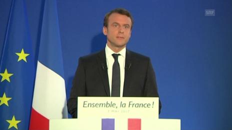 Video «Rede von Emmanuel Macron (Original)» abspielen