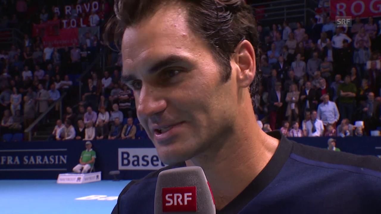 Tennis: Swiss Indoors Basl 2015, Roger Federer im Interview