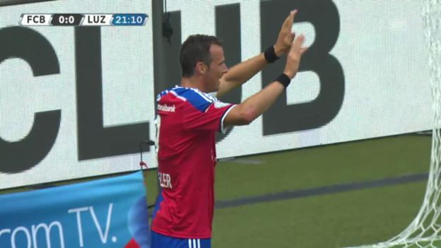 Video «Fussball: Die Tore bei Basel - Luzern» abspielen