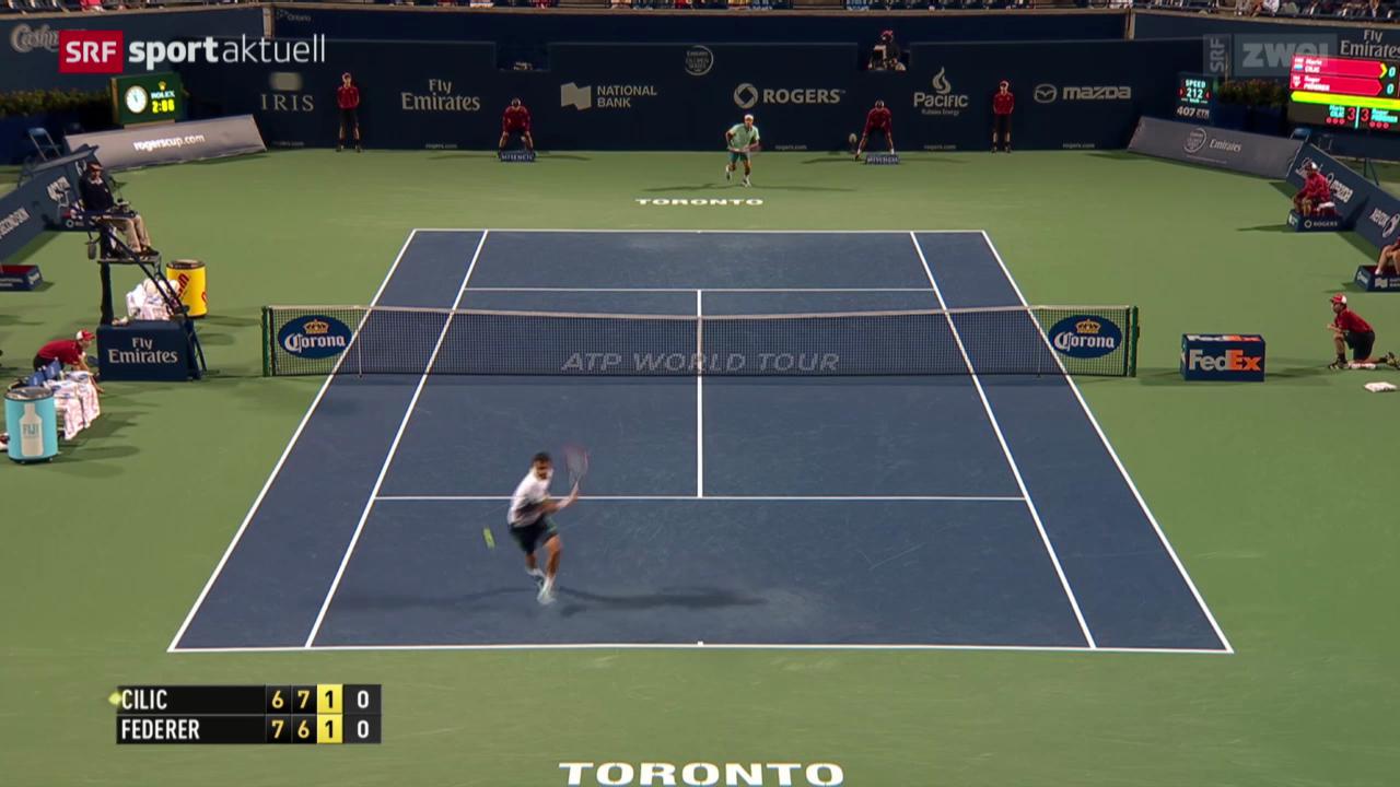 Tennis: ATP Toronto, Achtelfinal Federer - Cilic