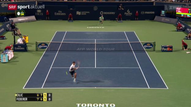 Video «Tennis: ATP Toronto, Achtelfinal Federer - Cilic» abspielen