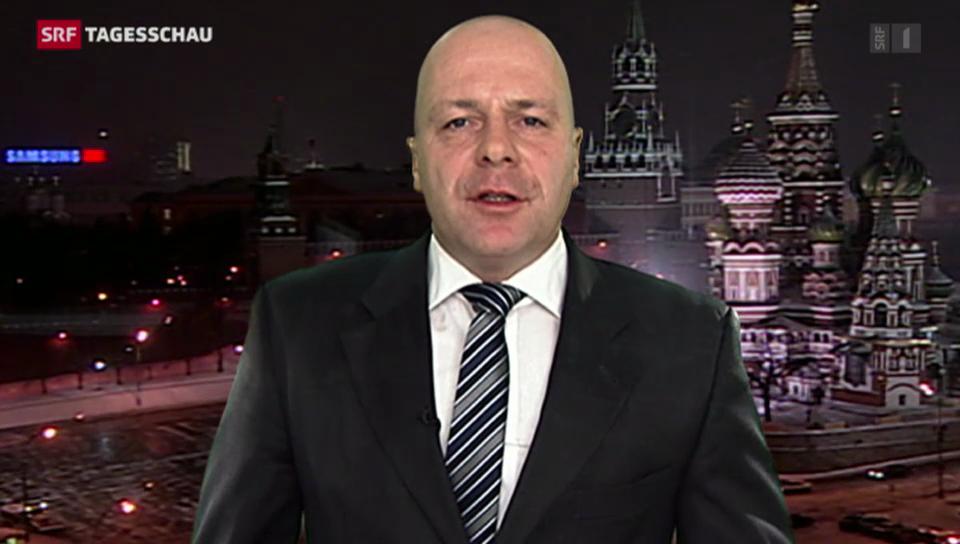 SRF-Korrespondent Christoph Wanner aus Moskau